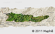 Satellite Panoramic Map of Cangyuan, shaded relief outside