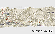 Shaded Relief Panoramic Map of Cangyuan