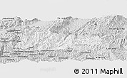 Silver Style Panoramic Map of Cangyuan
