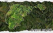 Satellite Panoramic Map of Changning, darken