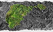 Satellite Panoramic Map of Changning, desaturated