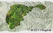 Satellite Panoramic Map of Changning, lighten