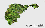 Satellite Panoramic Map of Changning, single color outside