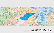 Political Panoramic Map of Chengong, lighten
