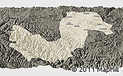 Shaded Relief Panoramic Map of Chuxiong, darken