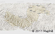 Shaded Relief Panoramic Map of Chuxiong, lighten