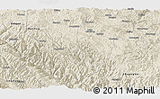 Shaded Relief Panoramic Map of Chuxiong
