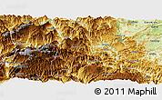 Physical Panoramic Map of Daguan