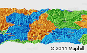 Political Panoramic Map of Daguan