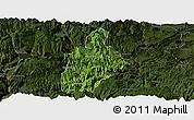 Satellite Panoramic Map of Daguan, darken