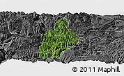 Satellite Panoramic Map of Daguan, desaturated