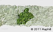 Satellite Panoramic Map of Daguan, lighten