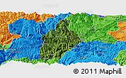 Satellite Panoramic Map of Daguan, political outside