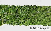 Satellite Panoramic Map of Daguan