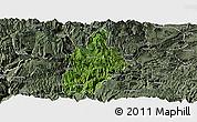 Satellite Panoramic Map of Daguan, semi-desaturated