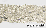 Shaded Relief Panoramic Map of Daguan
