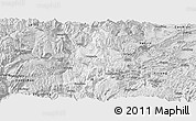Silver Style Panoramic Map of Daguan