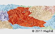 Political Panoramic Map of Dayao, lighten