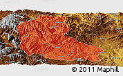 Political Panoramic Map of Dayao, physical outside