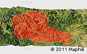 Political Panoramic Map of Dayao, satellite outside