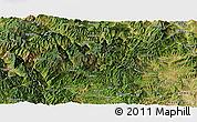 Satellite Panoramic Map of Dayao