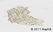 Shaded Relief Panoramic Map of Dayao, cropped outside