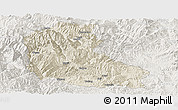 Shaded Relief Panoramic Map of Dayao, lighten