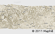 Shaded Relief Panoramic Map of Dayao