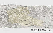 Shaded Relief Panoramic Map of Dayao, semi-desaturated