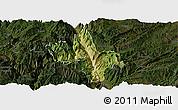 Satellite Panoramic Map of Dongchun Shi, darken