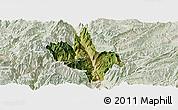 Satellite Panoramic Map of Dongchun Shi, lighten