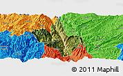Satellite Panoramic Map of Dongchun Shi, political outside