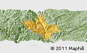 Savanna Style Panoramic Map of Dongchun Shi