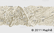 Shaded Relief Panoramic Map of Dongchun Shi