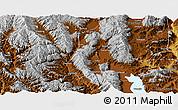 Physical Panoramic Map of Eryuan