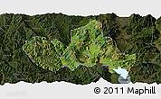 Satellite Panoramic Map of Eryuan, darken