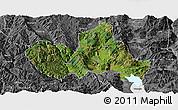 Satellite Panoramic Map of Eryuan, desaturated