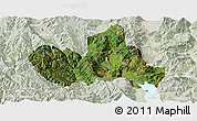 Satellite Panoramic Map of Eryuan, lighten