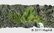 Satellite Panoramic Map of Eryuan, semi-desaturated