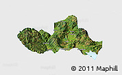 Satellite Panoramic Map of Eryuan, single color outside