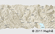 Shaded Relief Panoramic Map of Eryuan