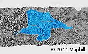 Political Panoramic Map of Eshan, desaturated
