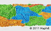 Political Panoramic Map of Eshan