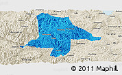 Political Panoramic Map of Eshan, shaded relief outside