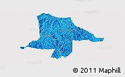 Political Panoramic Map of Eshan, single color outside