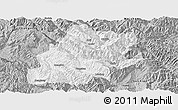 Gray Panoramic Map of Fengqing