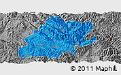 Political Panoramic Map of Fengqing, desaturated
