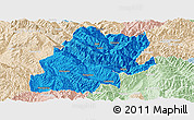 Political Panoramic Map of Fengqing, lighten