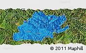 Political Panoramic Map of Fengqing, satellite outside