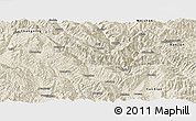 Shaded Relief Panoramic Map of Fengqing